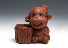 红小猴子牙签筒