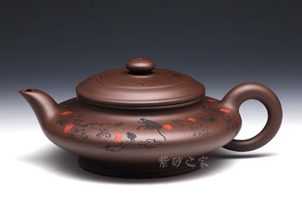 紫砂壶金奖作品-卢宁刚-十二生肖大虚扁