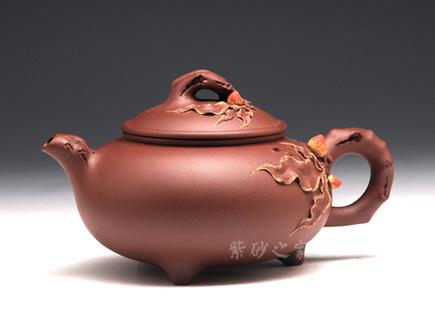 宜兴紫砂壶-寿桃壶-倪顺金