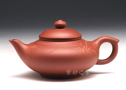 宜兴紫砂-扁罂(兰花)-原矿底槽青-汤鸣皋