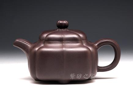 四方菱花-紫茄泥