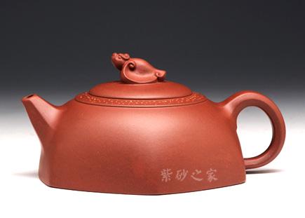 宜兴紫砂-福在眼前-原矿红皮龙-贺洪梅