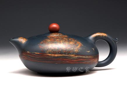 宜兴紫砂-晨曲-原矿墨绿泥-季益顺