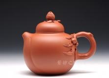 宜兴紫砂壶-高寿-原矿红泥-凌锡苟