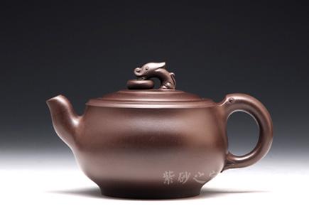 紫砂壶-金奖-玉龙-原矿紫泥-陈正初
