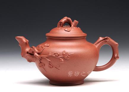 宜兴紫砂-报春-原矿红皮龙-许智萍