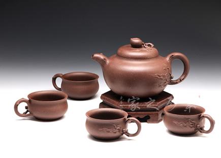 宜兴紫砂壶全手工作品-许智萍-桃壶