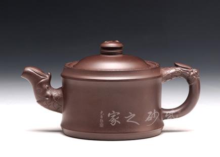 宜兴紫砂-矮龙头八卦(小)-原矿紫泥-陈正初