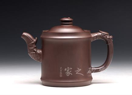宜兴紫砂壶-高龙头八卦(大)-原矿紫泥-陈正初