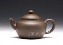 宜兴紫砂壶-宫灯-青灰泥-吴小平