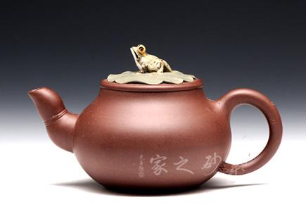 宜兴紫砂壶-荷塘情趣-陈晓云