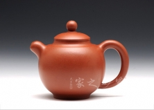 宜兴紫砂壶-圆圆壶-原矿红泥-顾绍培