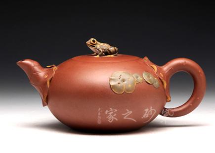 荷塘蛙鸣壶