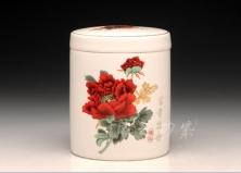 富贵牡丹5号直身茶叶罐