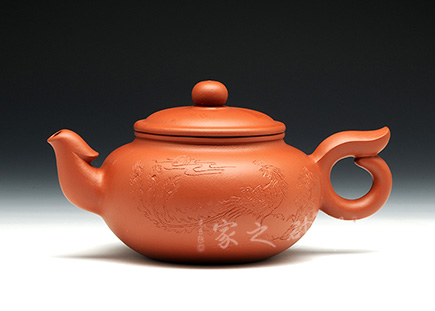宜兴紫砂壶-丹凤朝阳-原矿红皮龙-王林仙