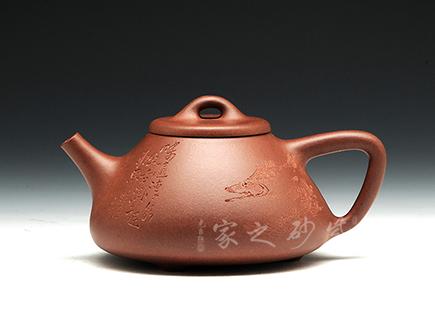 宜兴紫砂-石瓢-原矿红皮龙-刘一飞