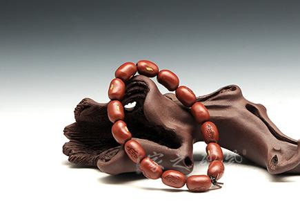 红豆紫砂手串