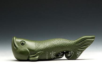 高档宜兴紫砂壶【小金鱼】 | 紫砂壶名家【雕塑摆件】