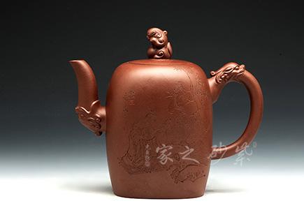 紫砂壶金奖作品-顾建芬-吉龙呈祥