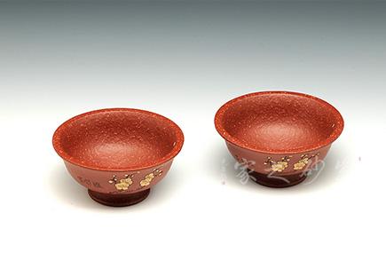 大红袍梅花杯(一对)