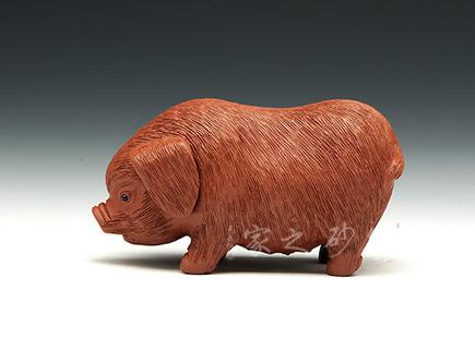 紫砂周边-猪-紫砂泥-雕塑摆件