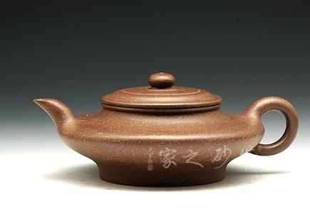 宜興紫砂壺-虛扁-老段泥-高儉