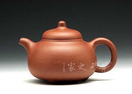 宜兴紫砂壶-三足乳丁(紫泥)-王国新