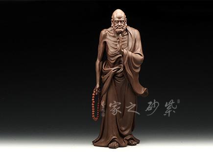 宜兴紫砂-达摩(见性成佛)-原矿紫泥-王国文