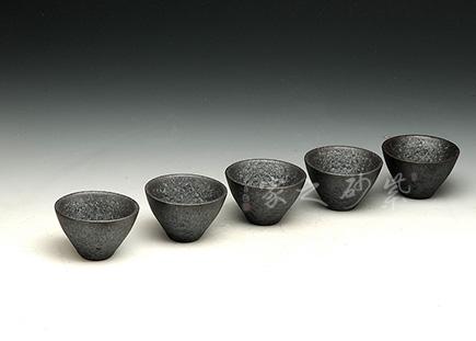 粗陶日式品茗杯