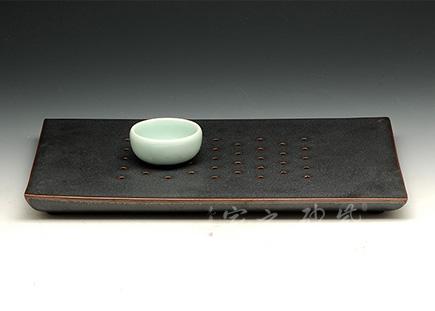 铁釉陶瓷茶海茶台