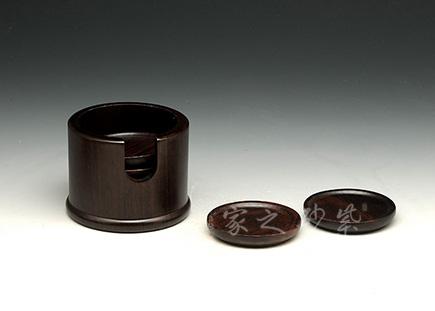 黑檀木杯垫组合茶具