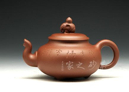 宜兴紫砂壶-万象更新-原矿紫泥-范国歆