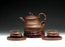 紫竹根五头茶具