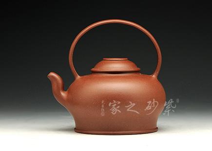 宜兴紫砂-唐韵提梁-原矿紫泥-储峰