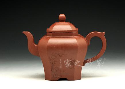 宜兴紫砂-八方宫灯 ☆-原矿清水泥-贺杨