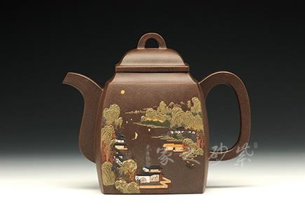 宜兴紫砂-汉方-黑心土-施昌