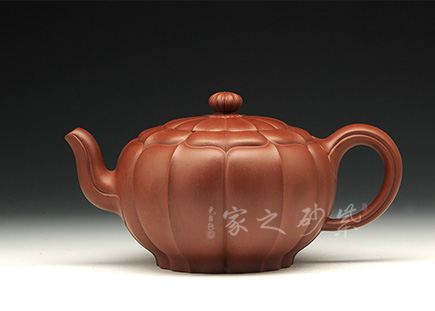 宜兴紫砂壶全手工作品-冯炼-玉带菱花壶 (16全手一等)