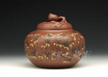 圣桃茶罐(百子图)