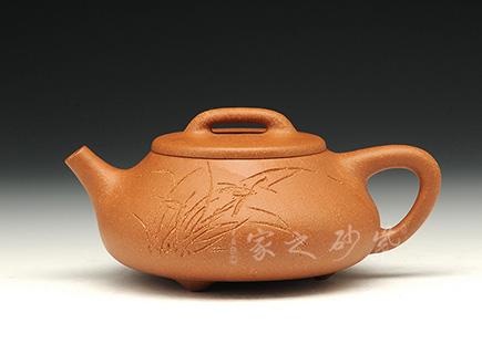 宜兴紫砂-汉风石瓢-原矿蟹黄泥-卢宁刚