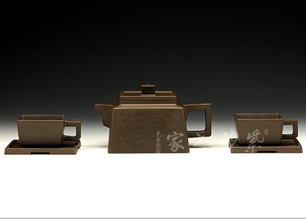 五头雅方套壶