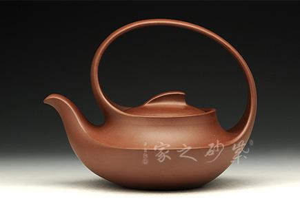 宜兴紫砂壶-曲壶-原矿底槽青-陶长辉