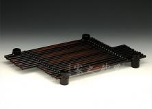 藤编竹排茶垫