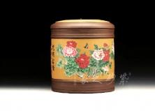 七饼牡丹茶叶罐