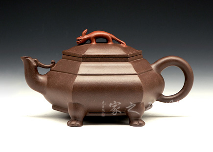 宜兴紫砂壶-龙行凤鸣-卢宁刚