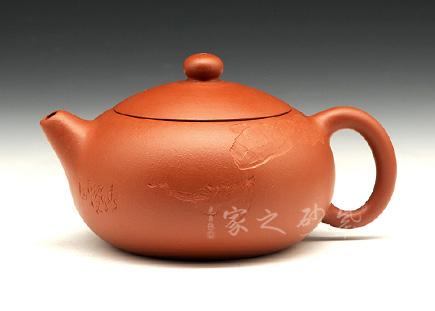 宜兴紫砂壶-西施(春江水暖)-原矿朱泥-何忍群