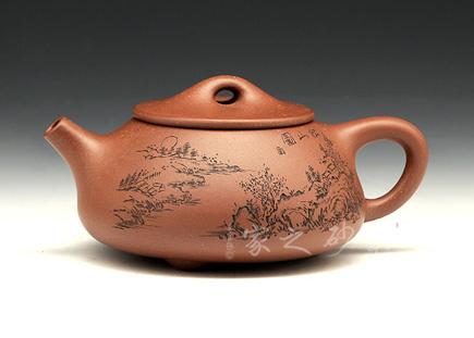 宜兴紫砂壶-石瓢(松山)-原矿紫泥-庄青