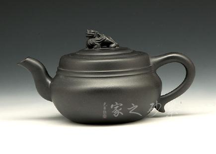 宜兴紫砂壶-圆满(焐灰)-原矿底槽青-王国新