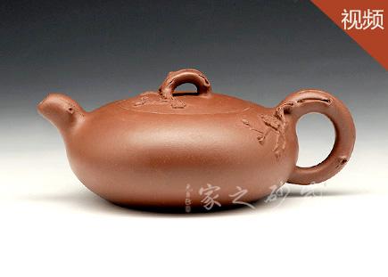 宜兴紫砂壶-含香-原矿底槽青-潘明星