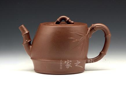 宜兴紫砂壶-竹段-原矿紫泥-潘明星