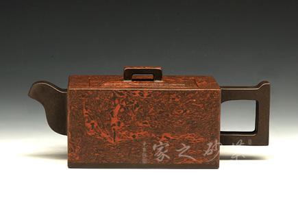宜兴紫砂壶-银箱-绞泥-孔小明